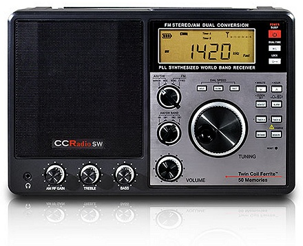 Una radio americana, dove le Onde Medie vanno da 530 a 1700 kHz, con passi da 10 kHz