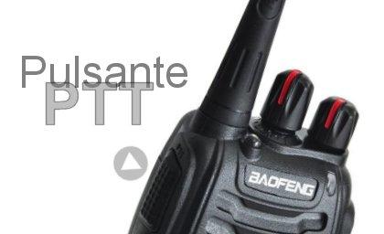 Reti PMR: il pulsante PTT attiva immediatamente la trasmissione dell'apparato